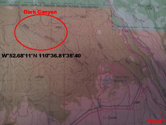 Skinwalker Ranch Utah Map.Location Of The Dark Canyon Home Of The Skinwalker Creature