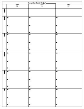 this two page lesson plan template provides teachers ample space