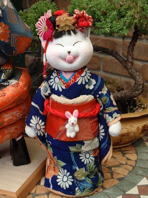kitty in kimono!
