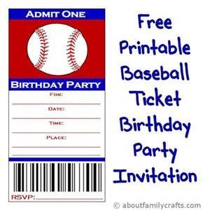 Free Printable Baseball Invitation Templates Bing Images