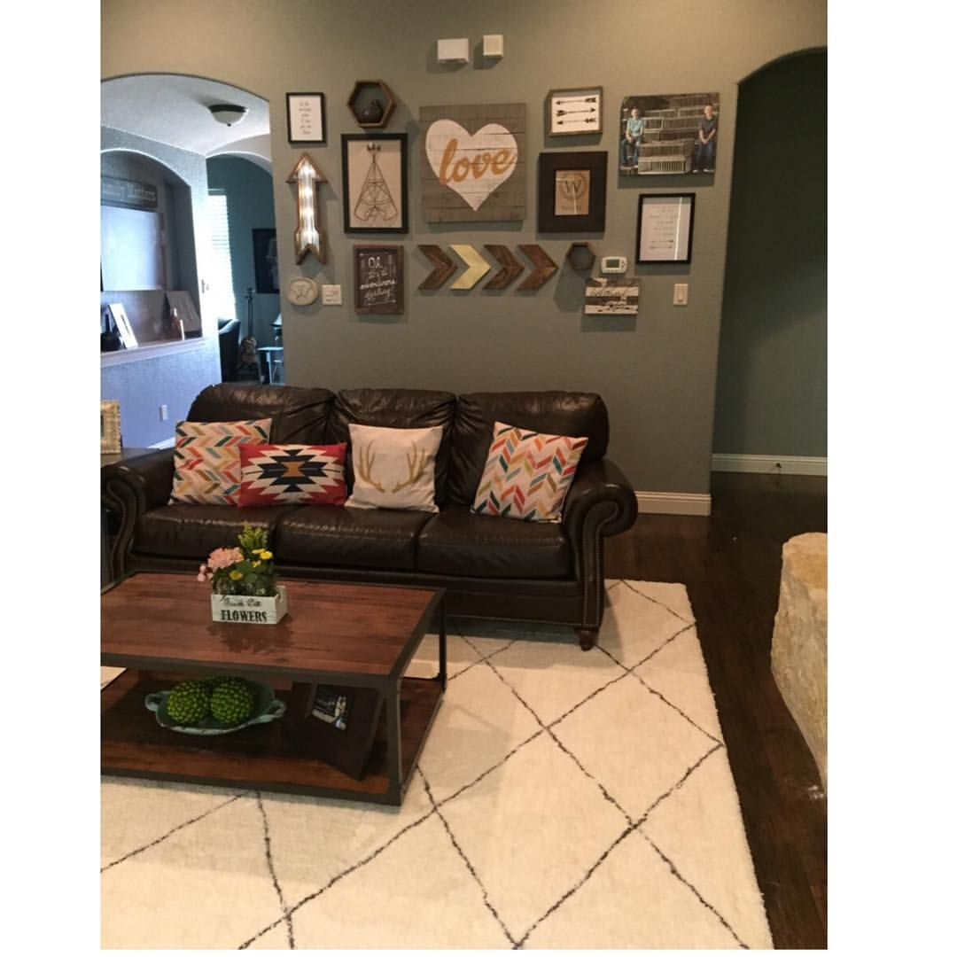 Gallery Walls Are So Fun And Scary All At The Same Time Inspiration Fun Living Room Ideas Inspiration