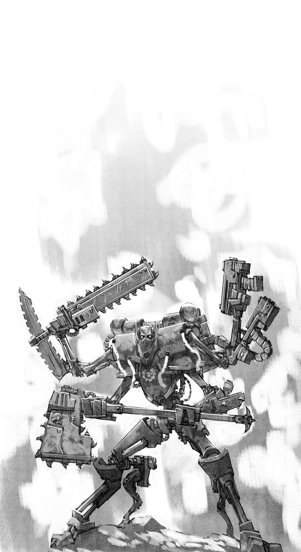 Regourso Commission 40k Version Of General Grievous Yes Mor Star War And WH40k Crossovers Please