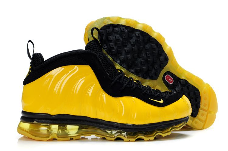 best sneakers 5eb7c 8b6a9 Foamposite Air Max Fusion Men One Yellow Black | Foamposite ...