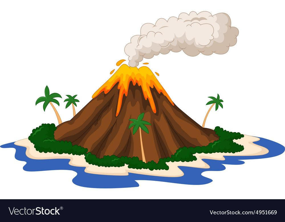 Illustration Of Volcanic Island Download A Free Preview Or High Quality Adobe Illustrator Ai Eps Pdf And High Volcano Drawing Art Drawings For Kids Drawings
