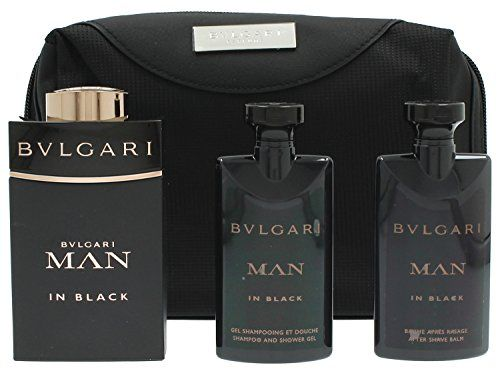 Bvlgari Man In Black Gift Set 3 4oz 100ml Edt 2 5oz 75ml Aftershave Balm 2 5oz 75ml Shower Bvlgari Man In Black Bvlgari In Black After Shave Balm
