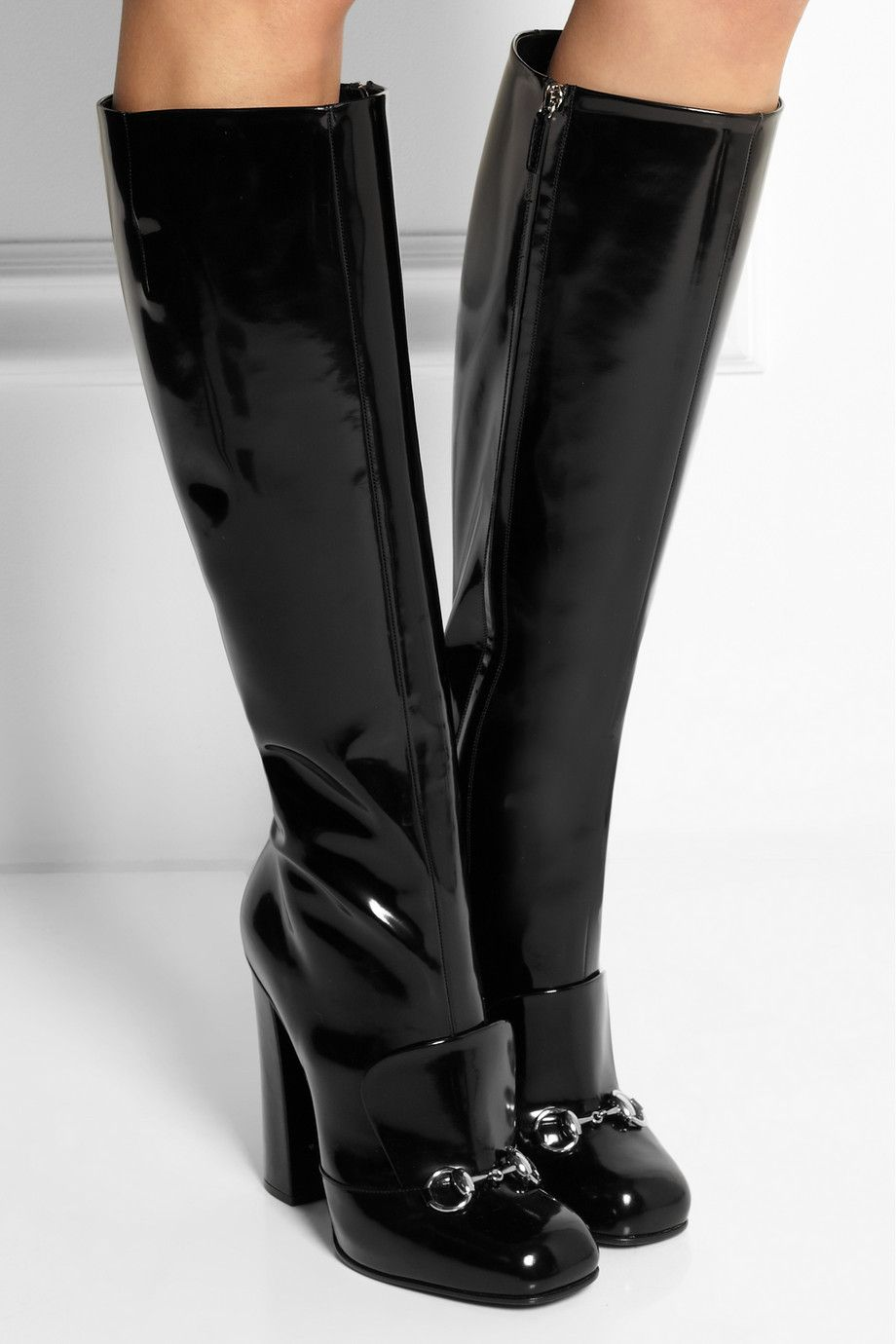 549599145fb Gucci | Horsebit-detailed patent-leather knee boots | NET-A-PORTER.COM