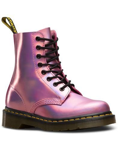 Dr. Martens 1460 VEGAN CHROME PASCAL - Lace-up boots - dark purple chrome metallic gx4G4Xs29