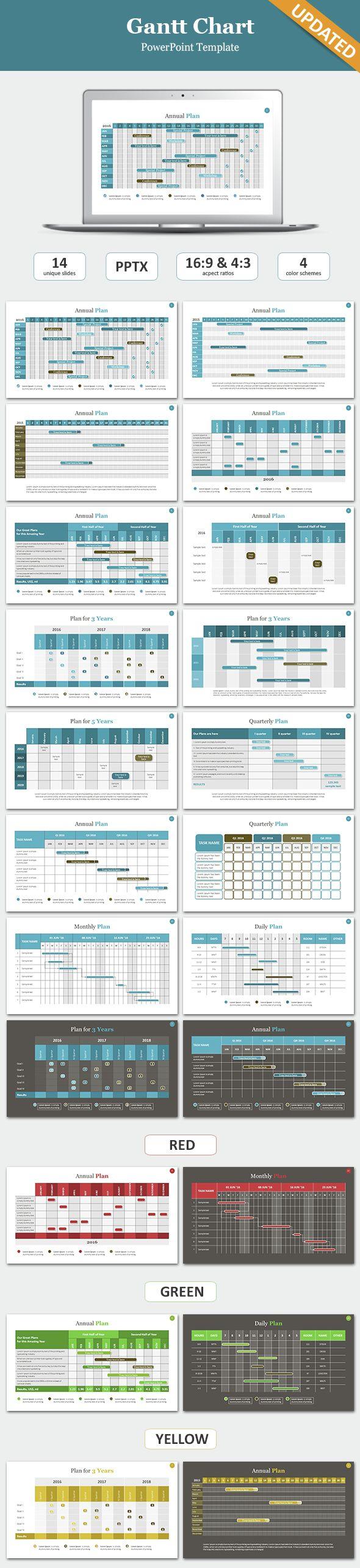 gantt chart powerpoint template | presentation templates, project, Modern powerpoint