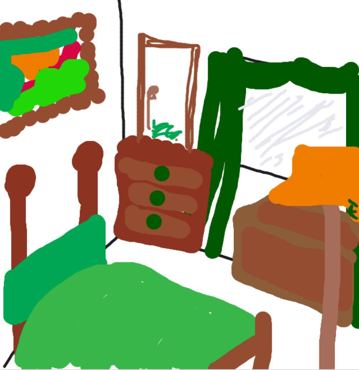 Bedroom in DrawSomething Mario characters, Character