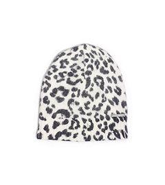 Leopard-Print Angora-Blend Hat