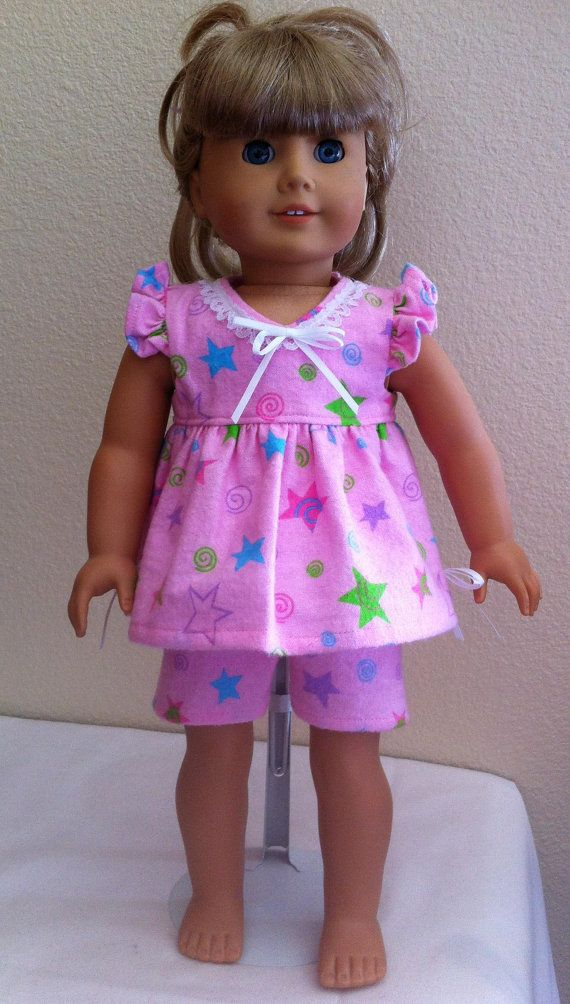Shorty Pajama Set for American Girl or Bitty Baby by MySundayBest ...