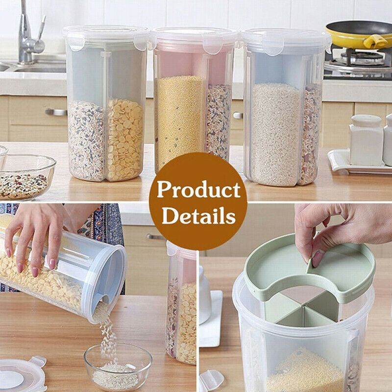 Details About Household Durable Food Storage Box Grain Multi
