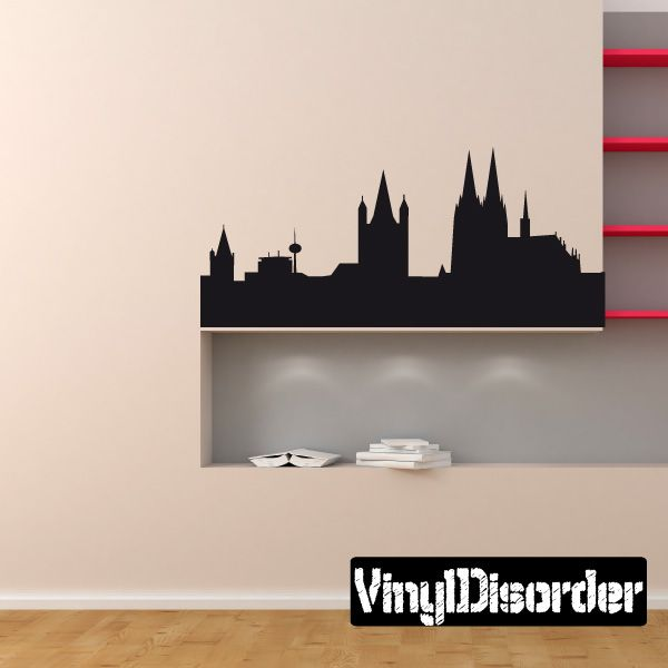 Cologne Germany Skyline Vinyl Decal Vinyl Decals Wall Decals Mural