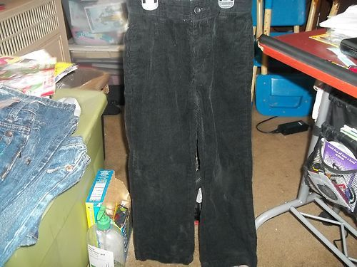 Young boys CHILDRENS PLACE black corduory pants size 6