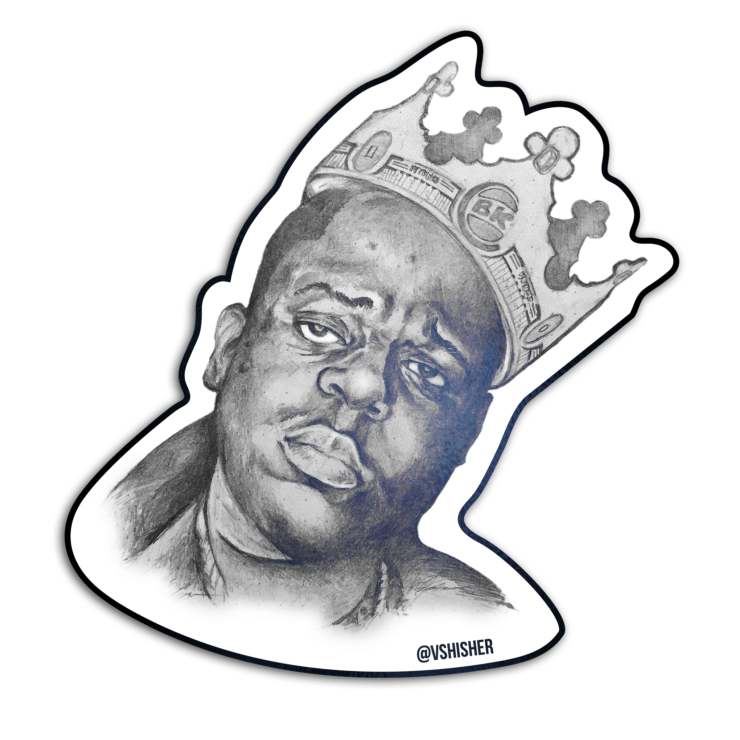 The King Of Bk The Notorious B I G Is The King Of Brooklyn And The Burger King Have It Your Way With These Biggie Smalls Stic Biggie Smalls Notorious Big Art