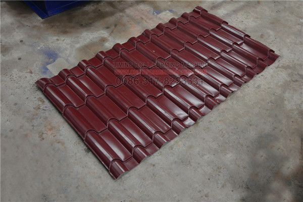 Newly Steel Roof Tile Roll Forming Machine Very Popular In Europe South Africa Zambia Brazil America Iraq Bamboo Roof Roll Forming Making Machine