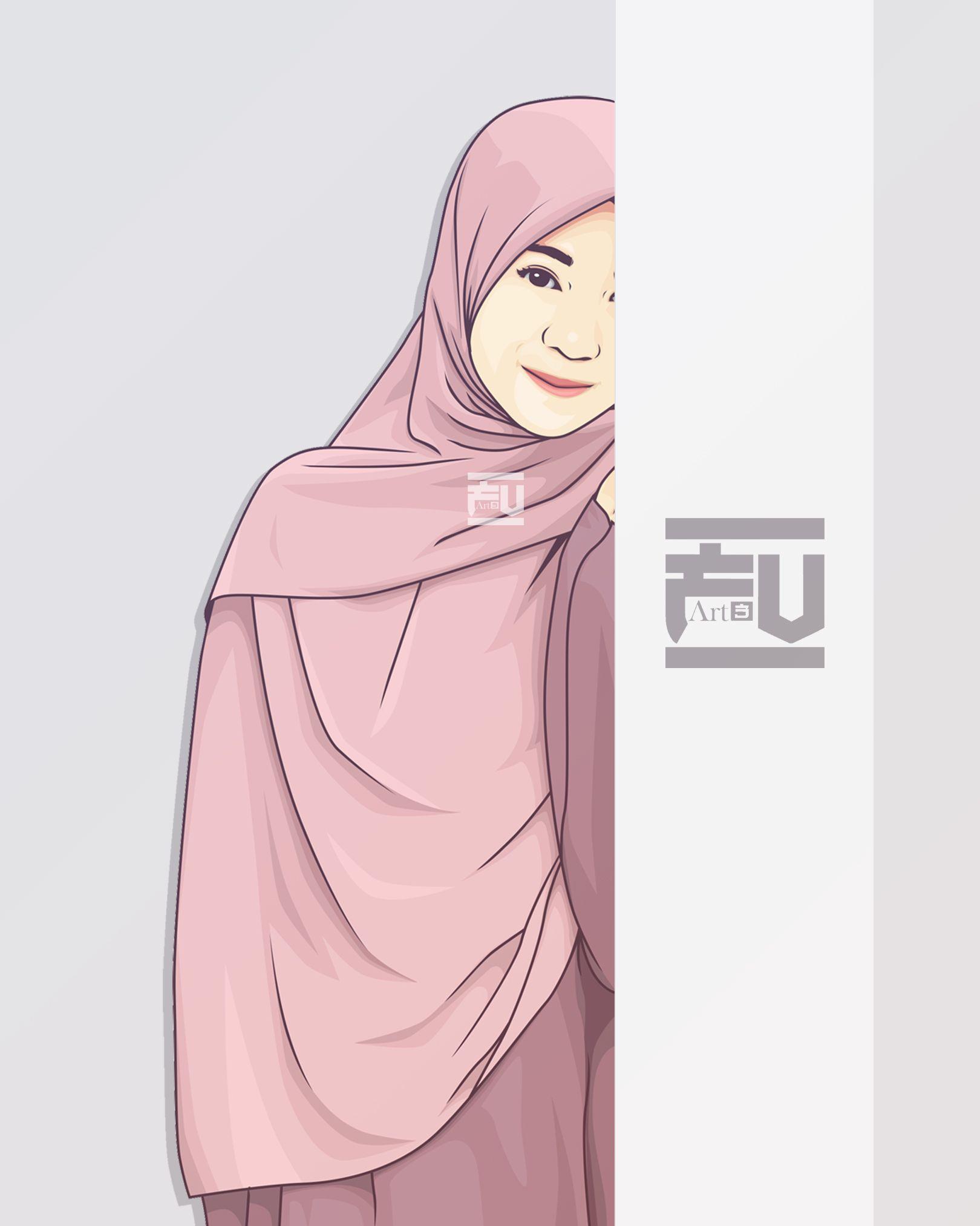 vector #hijab @ahmadfu12  Ilustrasi karakter, Gambar pengantin