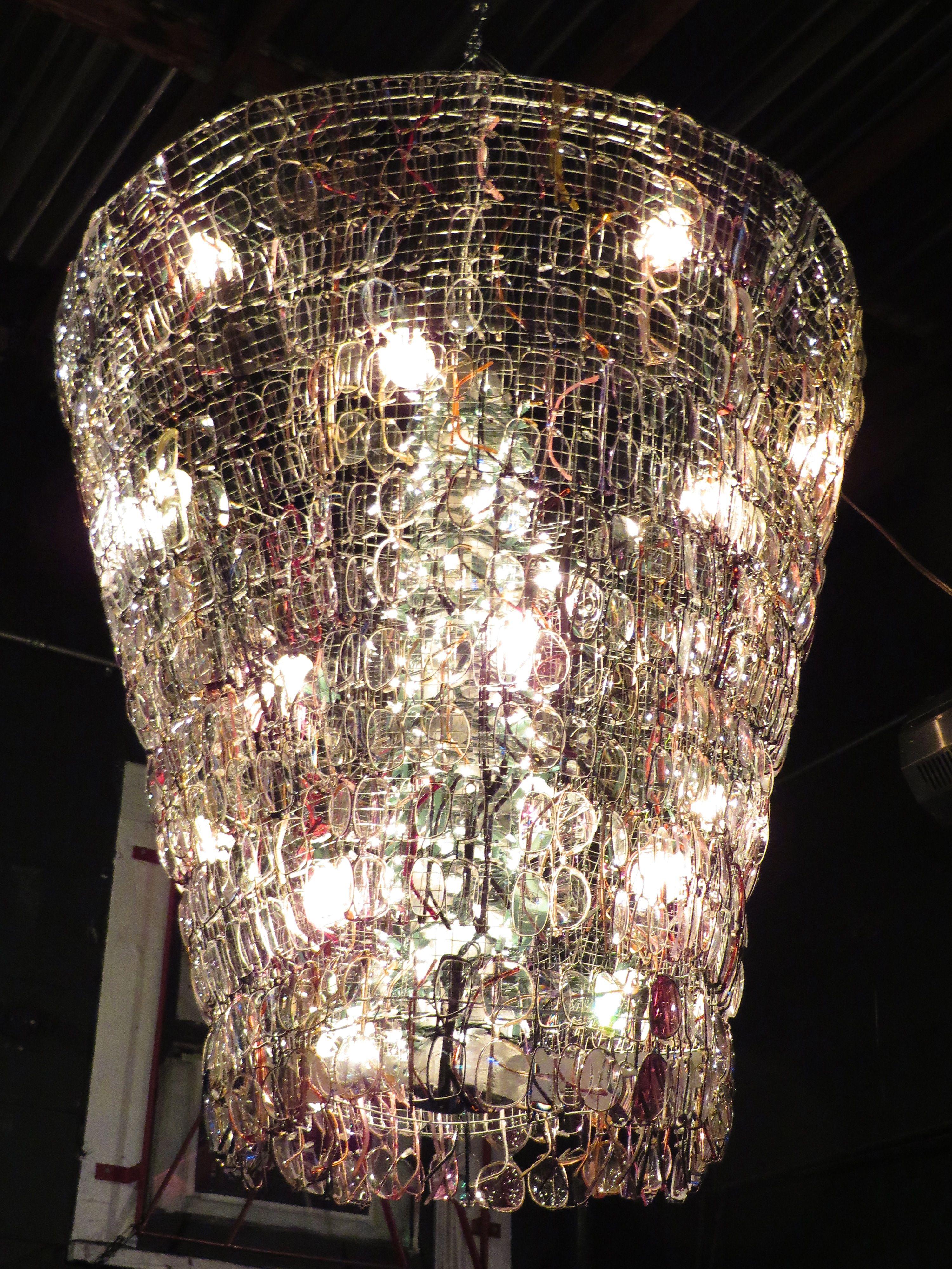 Urban chic eyeglass chandelier the party queen decor pinterest chandeliers arubaitofo Gallery