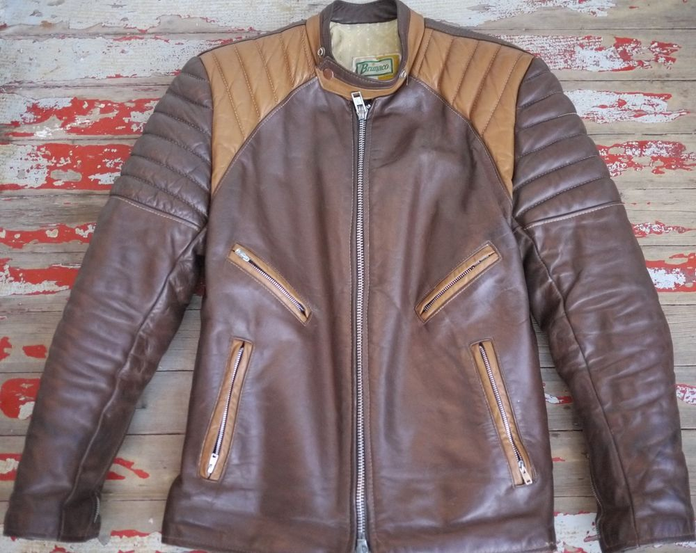 Vintage 1960s BRIMACO British Cycle Leathers Motorcycle
