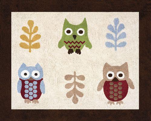 Owl Rug - Kids Accent Floor Area Rug