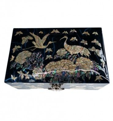 It is a nice jewelry box from South Korea nicely decorated with