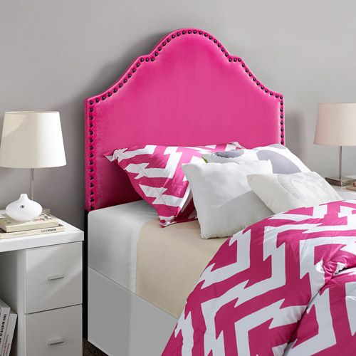 9 by Novogratz Twin Headboard with Nailheads, Multiple Colors ...