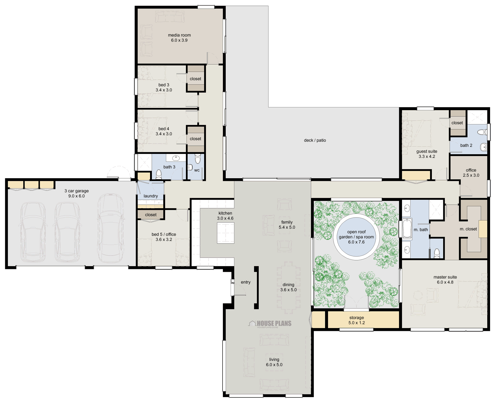 Posted In 5 Bedroom Home Office House Plans Luxury Homes Modern Homes House Plans 5 Bedroom House Plans House Floor Plans