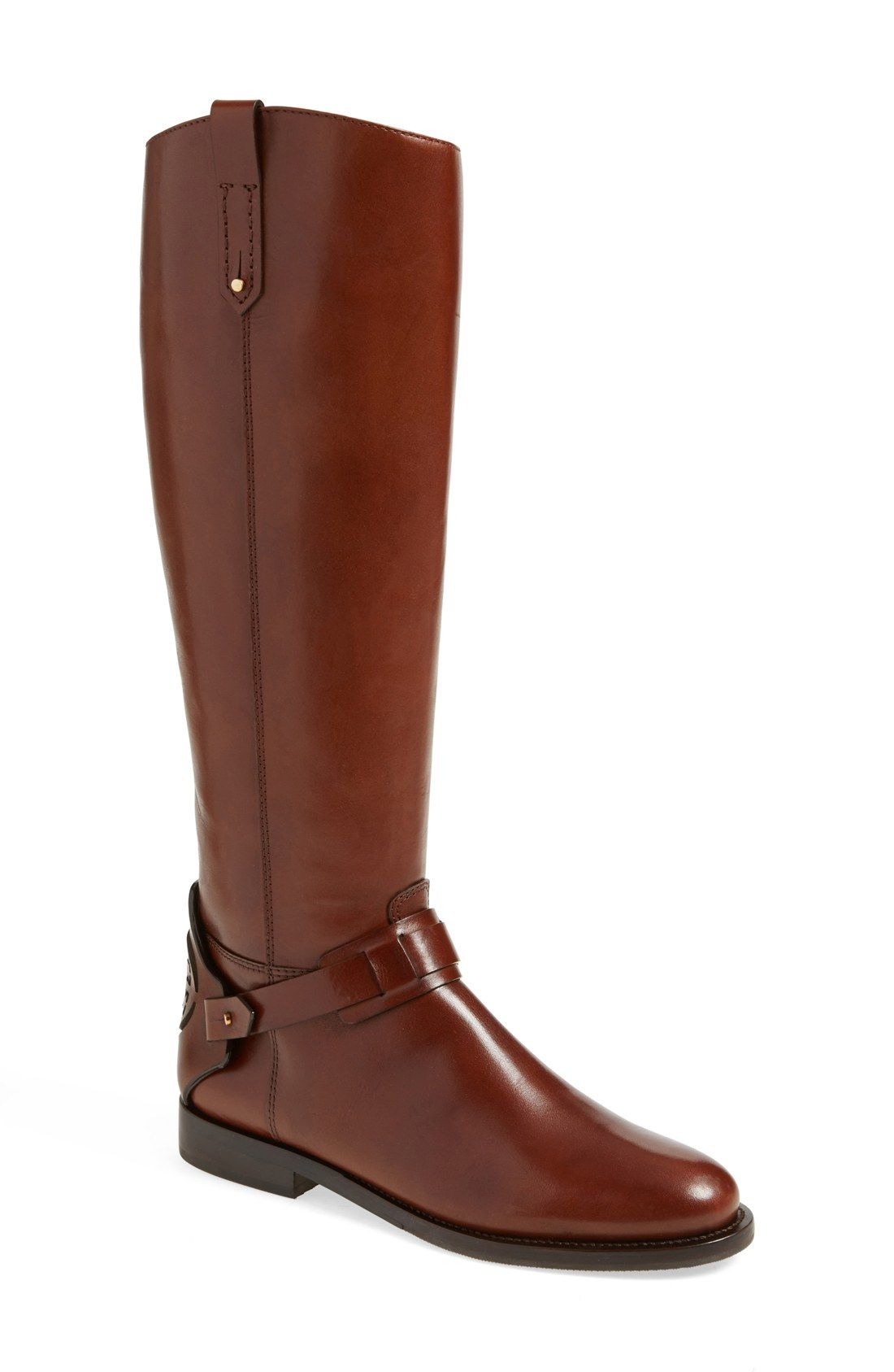 93bf13bfa84 Tory Burch  Derby  Leather Riding Boot (Women)