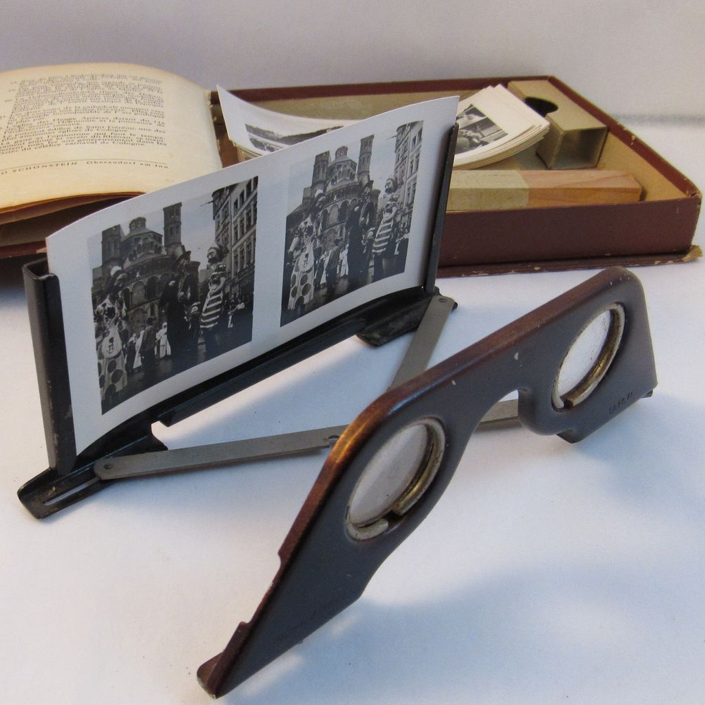 Raumbild Verlag Stereoscope Germany 3 D Complete With 23 Black And