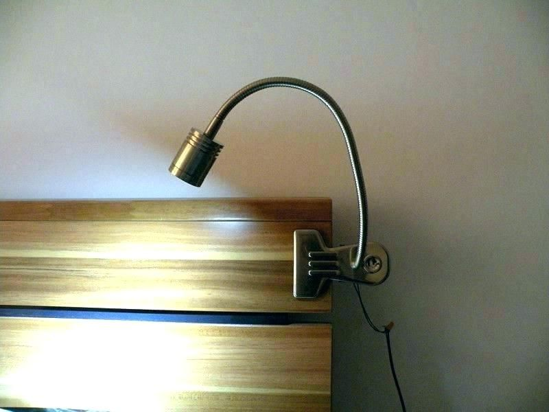 Clip On Reading Light Wall Mounted Lamps Headboard Lamp Bed Lights