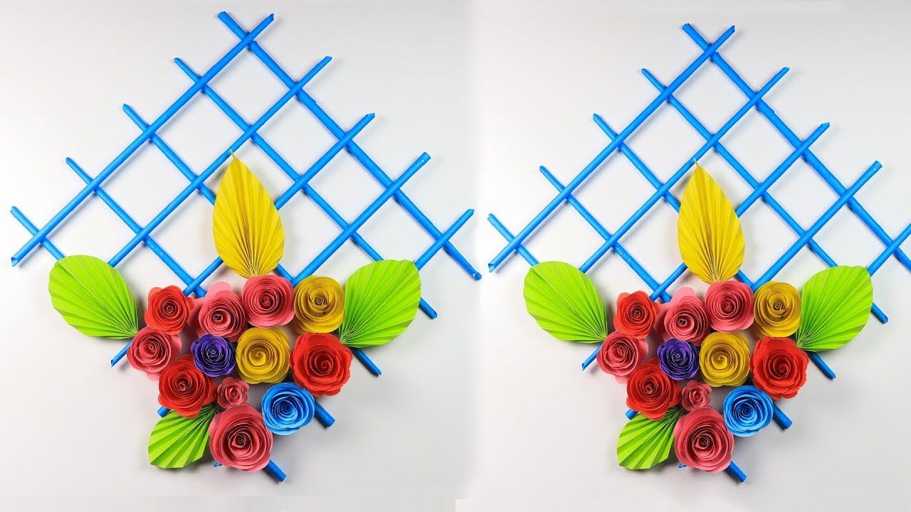 Paper Flower Wall Hanging How To Make Beautiful Wall Hanging With