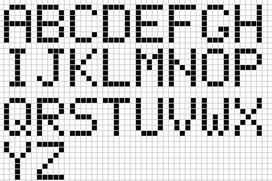 épinglé Par Catherine Sloan Sur Beading Pixel Art Lettre