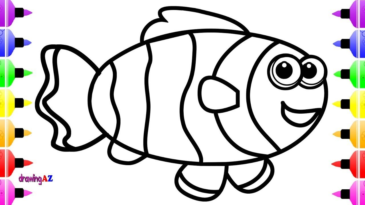 Magnífico Colorante De Peces Arco Iris Viñeta - Ideas Para Colorear ...