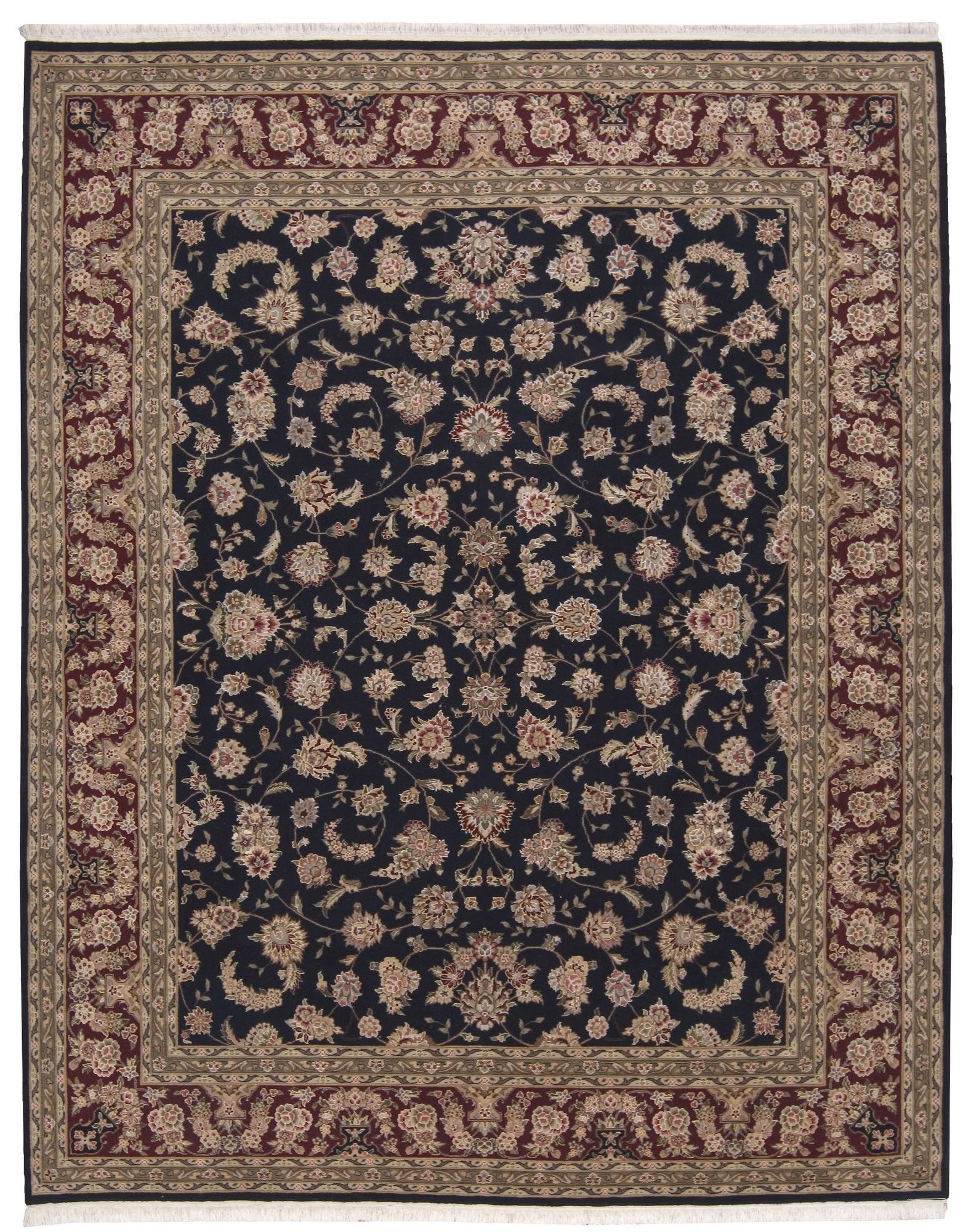 Royalty Hand-Woven Navy Area Rug