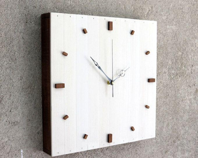 Wanduhr Weiß Modern modern clock wooden box wall or desktop clock simple design