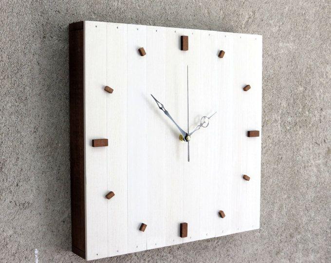 Weiße Weihnachts-Geschenk, moderne Uhr, Wanduhr, weiße Holz Uhr - wanduhren für die küche