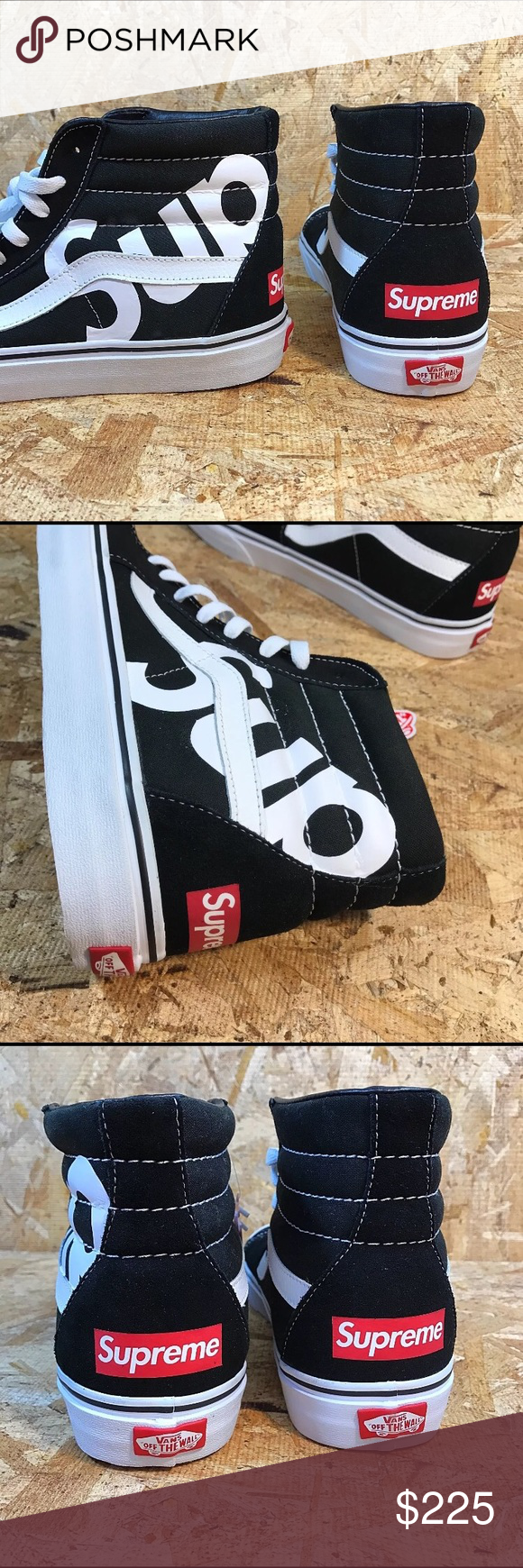 f519abd5f3f594 UNISEX CUSTOM Vans Supreme Sk8-Hi They are made-to-order