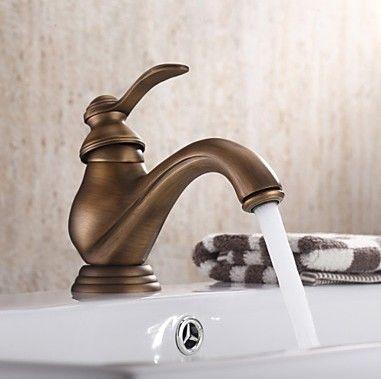 entraxe poign e simple robinet d 39 vier en laiton antique salle de bains antique for home. Black Bedroom Furniture Sets. Home Design Ideas