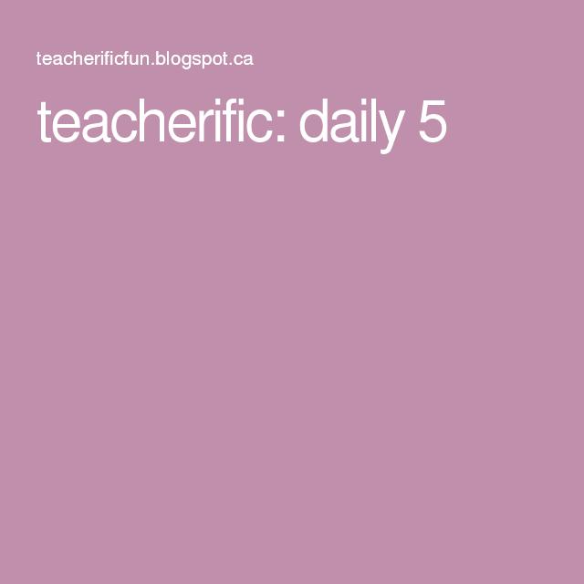teacherific: daily 5