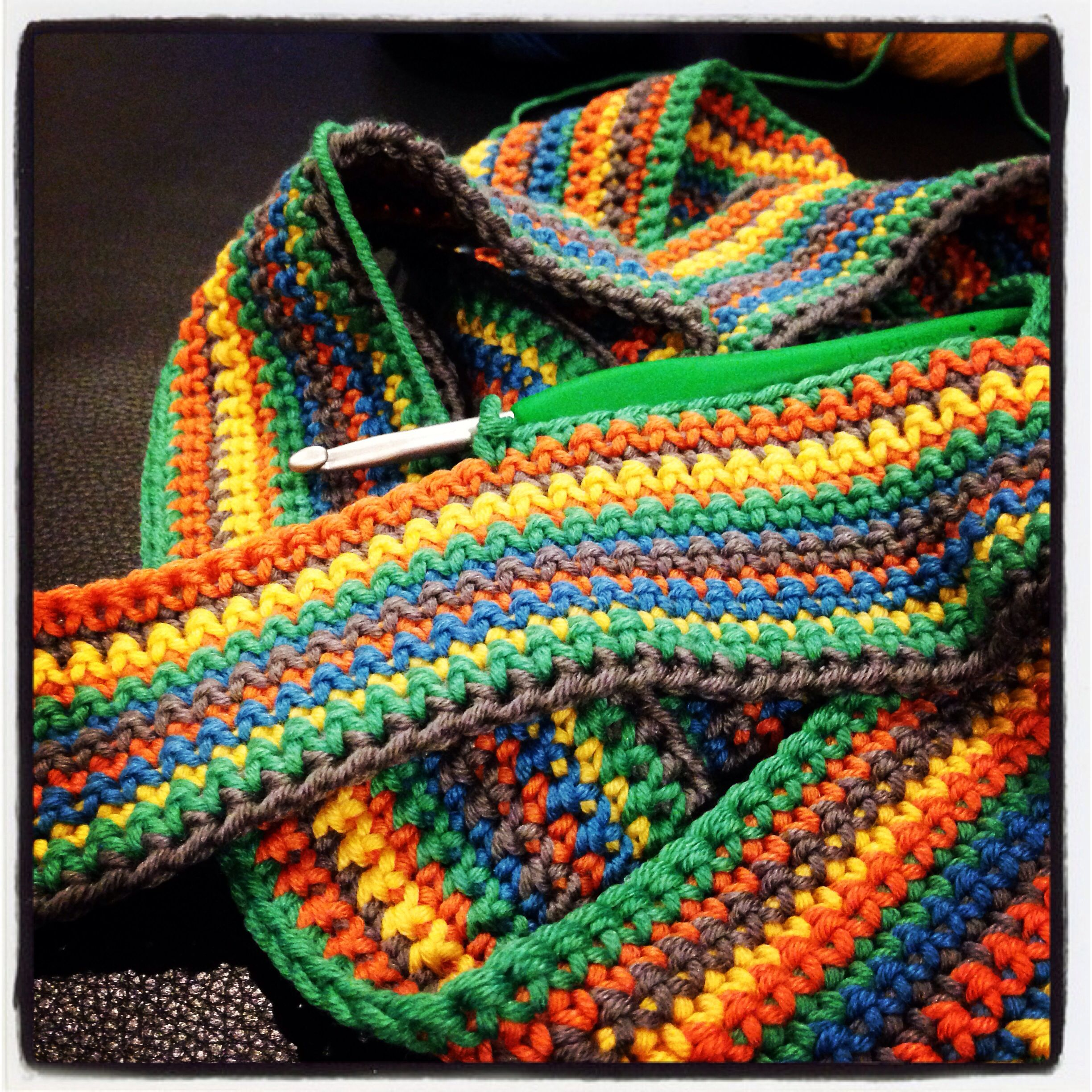 #crochet #wip #scarf #stripes