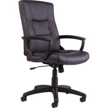 Alera Yr Series High Back Swivel Tilt Black Bonded Leather Chair