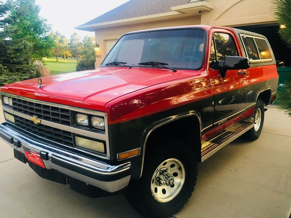 Arizona Vehicle With No Rust And Original Paint And Interior In Amazingly Preserved Condition Engine And Drivetrain Li Chevrolet Blazer Chevrolet Chevy Trucks
