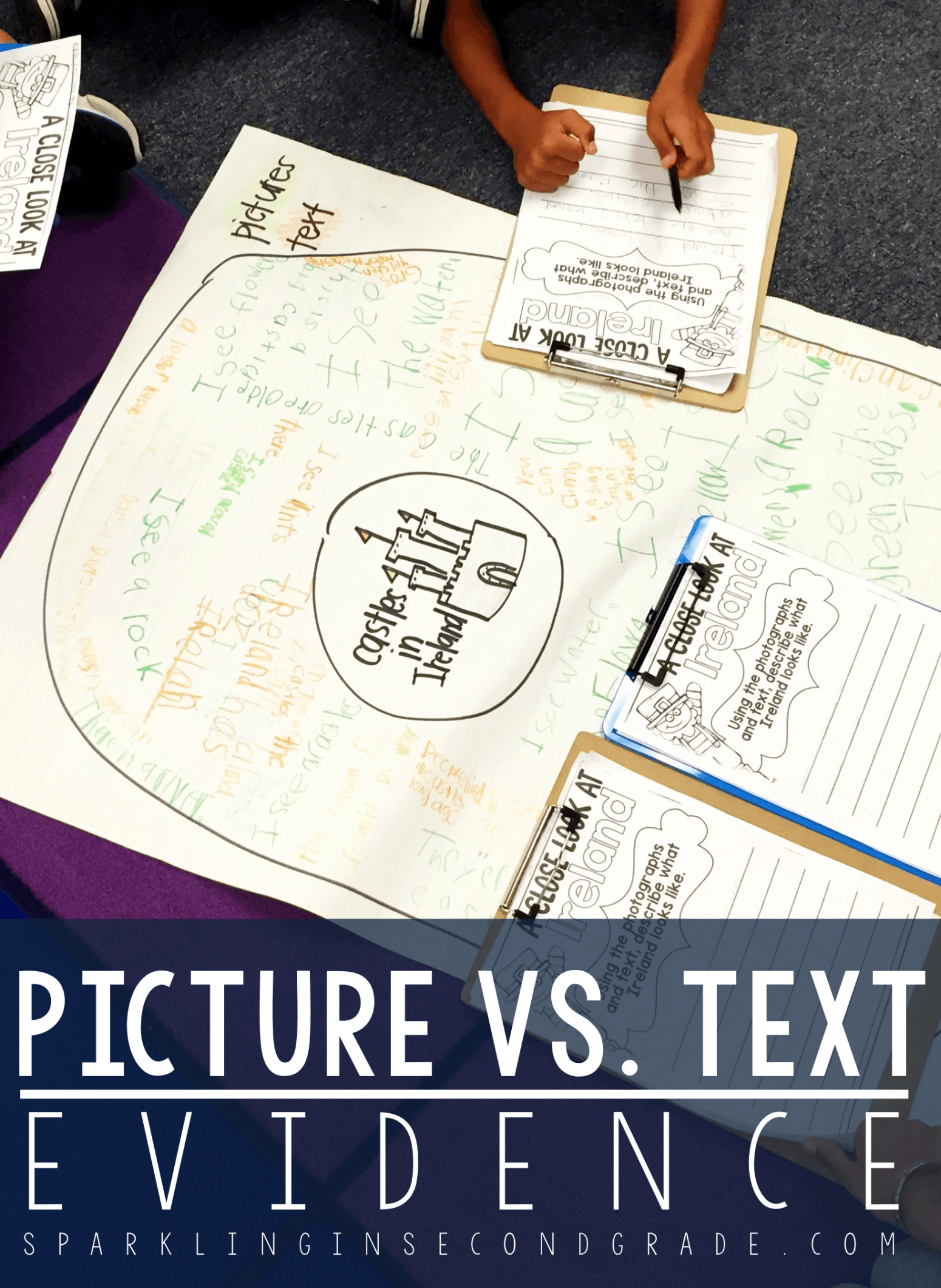 Picture vs. text evidence is a reading comprehension skill that is vital in first grade. Here is a fun way to get students to master it while having fun!