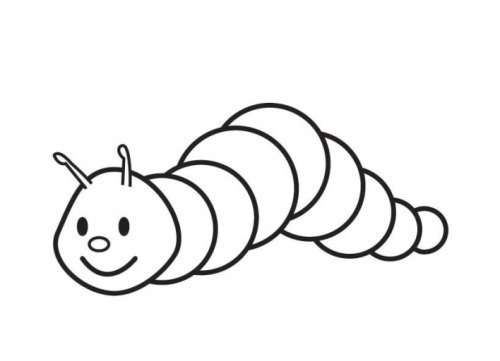small creeping caterpillar coloring page