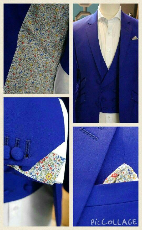 Costume marié homme. #champetre #dandy #chic #original #liberty #surmesure. Création by @Clavelle