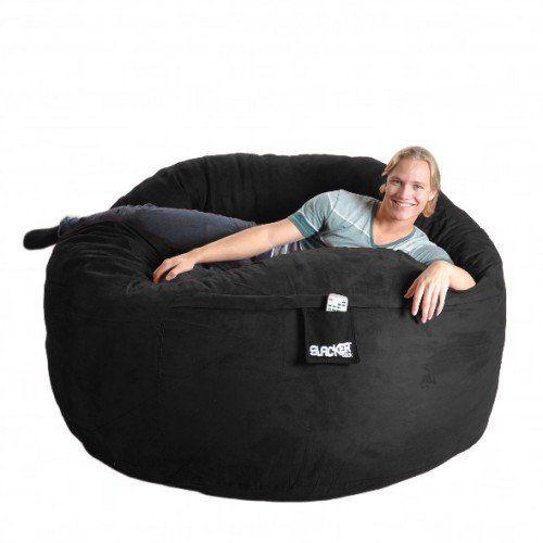 SLACKER sack 6-Feet Memory Foam Microsuede Beanbag Chair Lounger, Black SLACKER sack http://www.amazon.com/dp/B0045P8K3K/ref=cm_sw_r_pi_dp_PZgcvb1627HNG