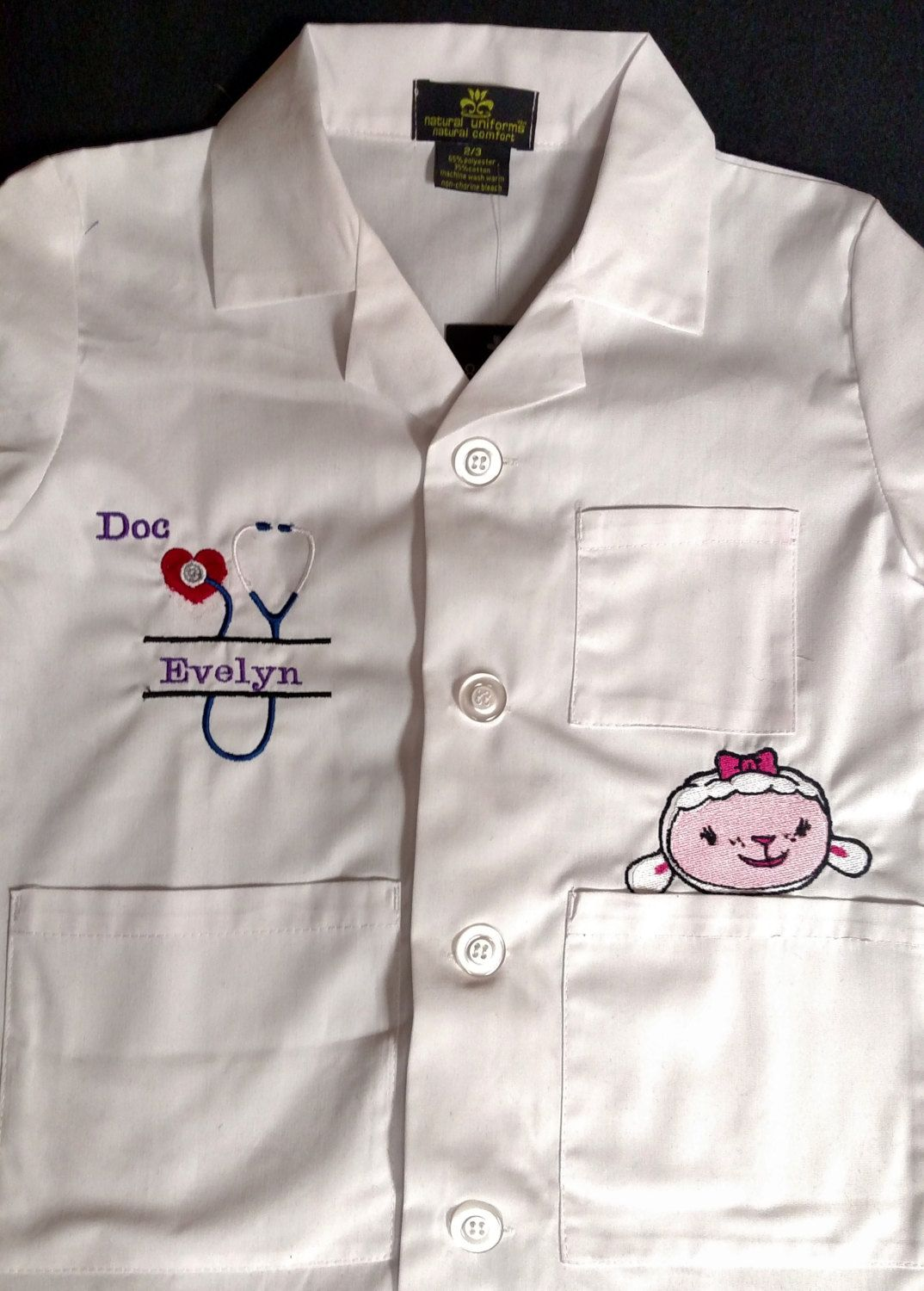 Doc Mcstuffins Kids Lab Coat Personalized By Happyknookcreations
