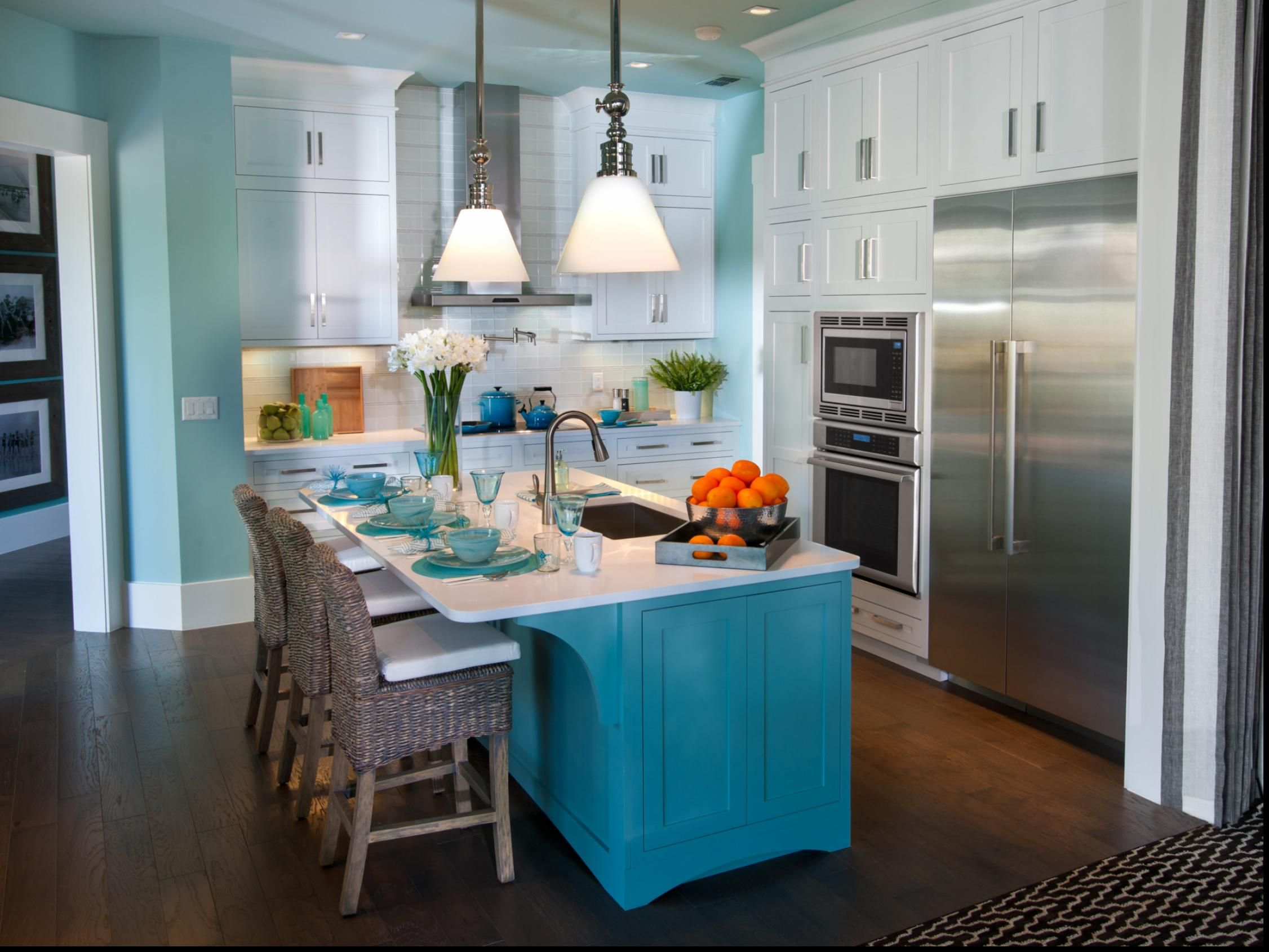 hgtv-kitchen-decorating-ideas-tagged-with-One-wall-kitchen-with ...