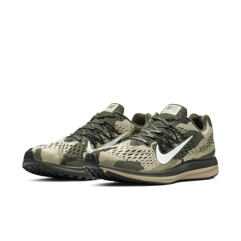 Nike Air Zoom Winflo 5 Camo Men's Running Shoe - Olive in ...