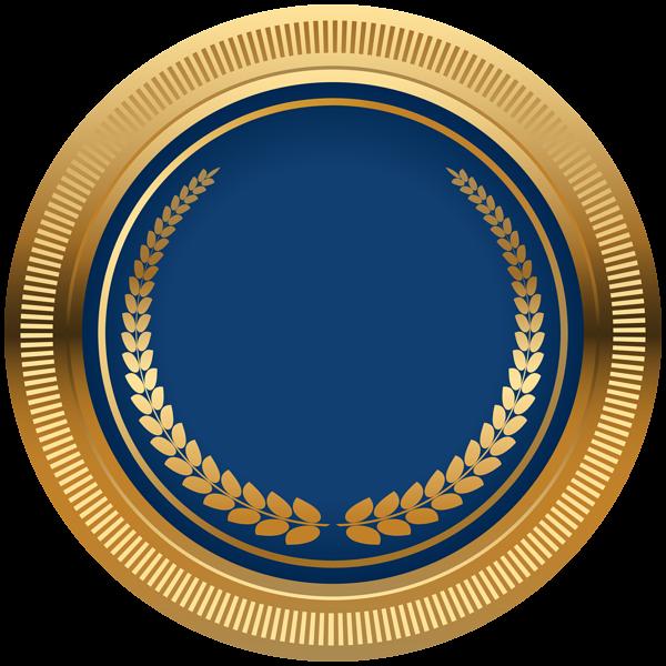 Blue Gold Seal Badge Png Transparent Image Poster Background Design Photo Logo Design Design Studio Logo